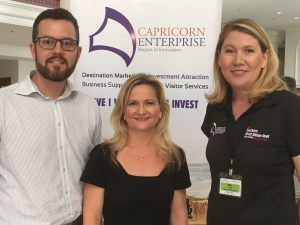 L2R - Trent Twomey (Advance Cairns Chair), Tracey Lines (Townsville Enterprise Ltd) and Mary Carroll (Capricorn Enterprise)