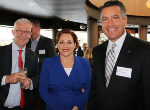 Queensland Resources Council  CEO Michael Roche with the Hon. Jackie Tradd MP, Deputy Premier and the Governor of Nevada USA , Brian Sandoval